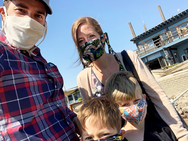 Eric Dziuban and his wife and sons are in 'family lockdown,' leaving the house only for necessities, during the COVID-19 pandemic.
