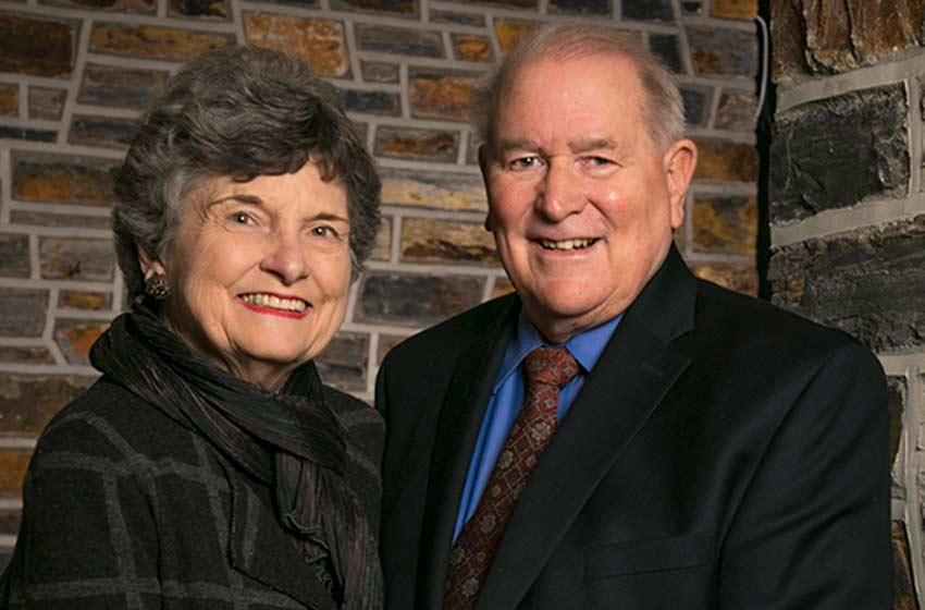 Donald Lucey, MD'63, with his wife, Shirley