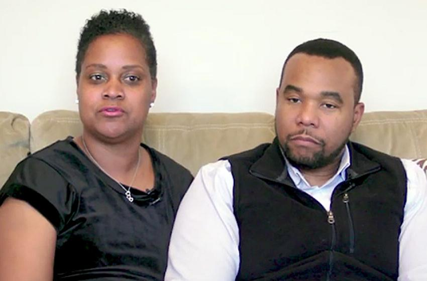 Breast cancer survivor Monica Crooks with husband