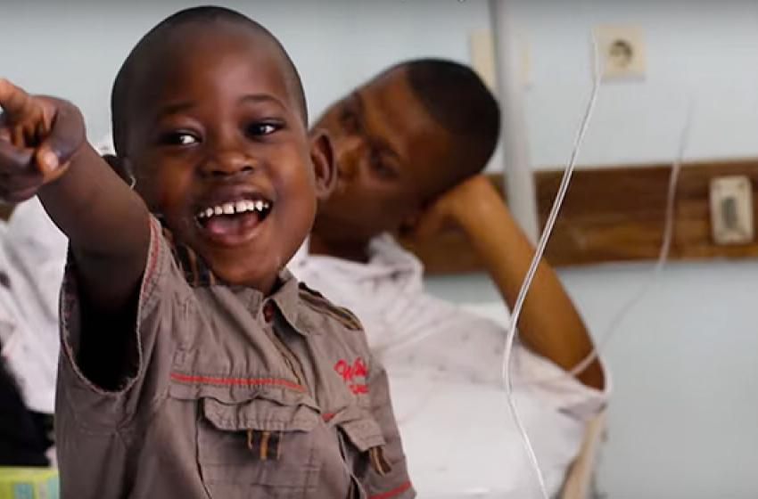 Photo of child patient in Tanzania