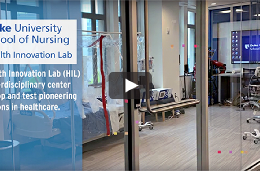 Video still of Duke University School of Nursing's Health Innovation Lab