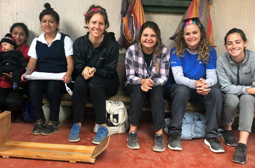 Lindsay Salisbury and Shelby Strockbine, along with other DUSON students, traveled to the western highlands of Guatemala to work with community health workers, visiting pregnant mothers, and providing trainings.